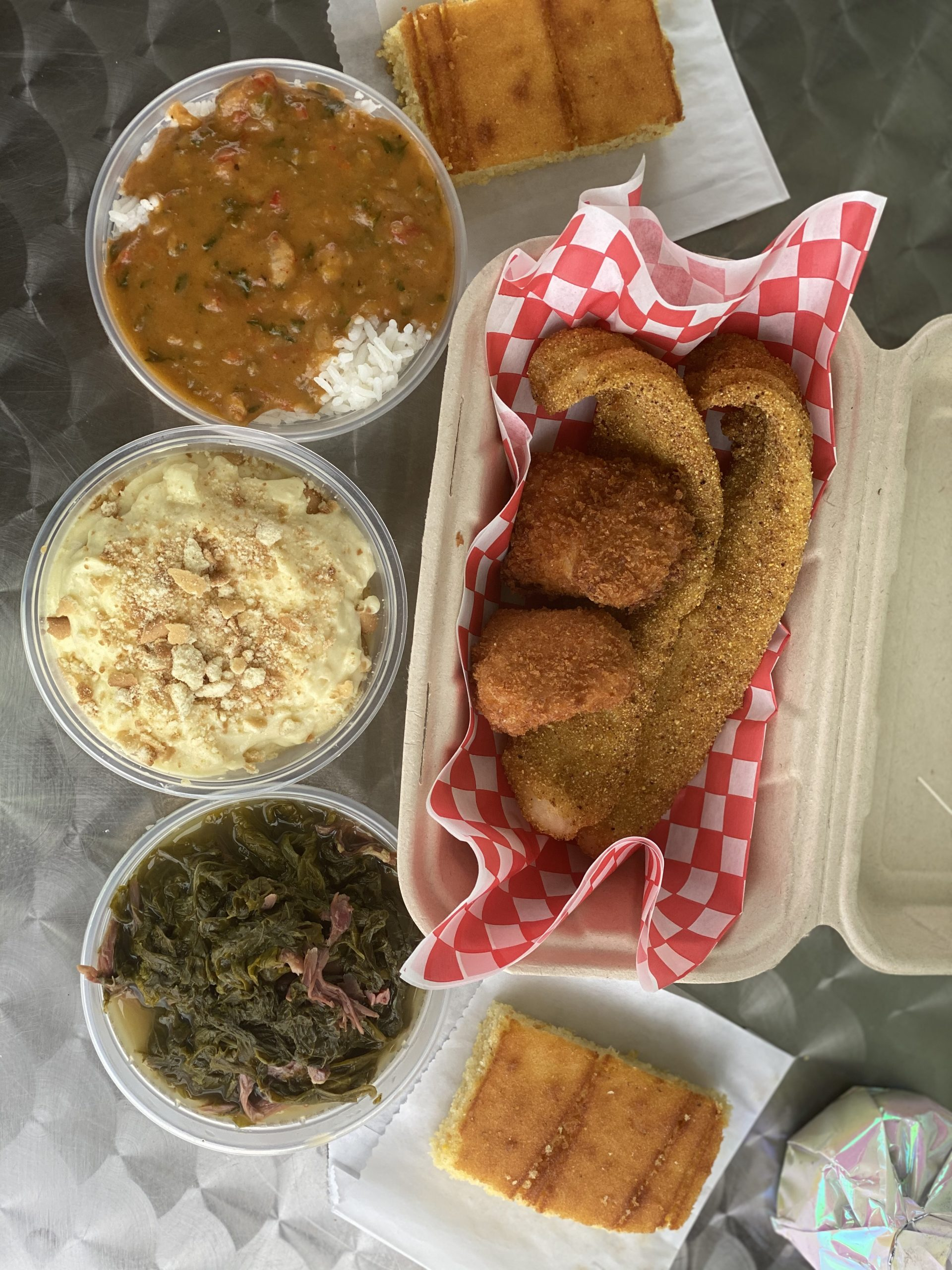 Photo: soul food and sides from Selena's Custom Kitchen